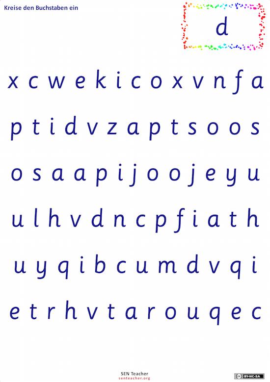 Buchstaben- und/oder Zahlensuche (Arbeitsblattgenerator) - Erster ...