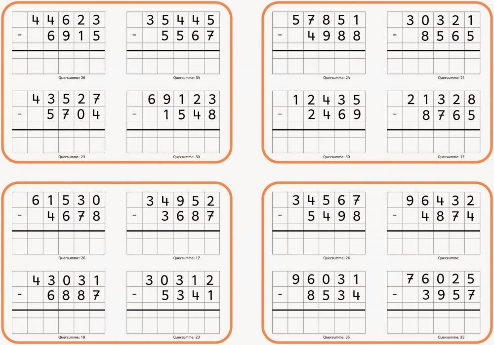 Matheaufgaben Klasse 5  die besten Arbeitsblätter von
