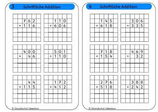 schriftliches multiplizieren klasse 4