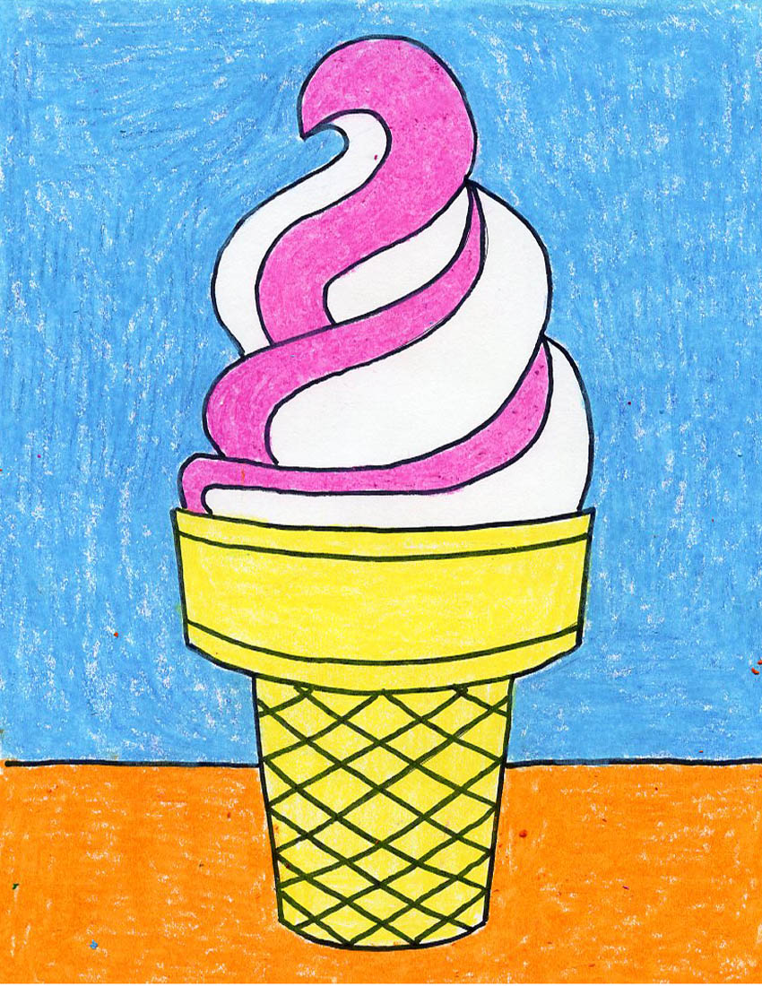 Draw An Ice Cream Cone Art Projects For Kids