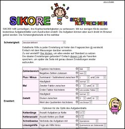 Onlinegenerator Sicher Kopfrechnen « Arbeitsblätter Erstellen ...