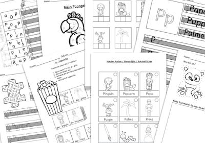 Drachenstübchen: Arbeitsblätter für den Schreiblehrgang zum Buchstaben P