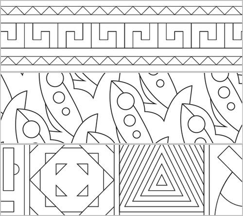 Fantastisch Geometrische Muster Malvorlagen Für Kinder Ideen ...