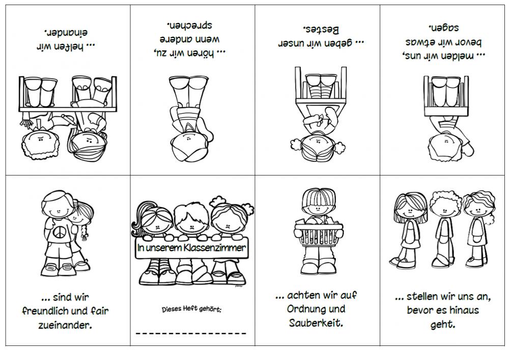 Klassenregeln Grundschule Bildkarten