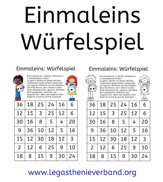 Einmaleins-Würfelspiel [Bloghop] - DVLD